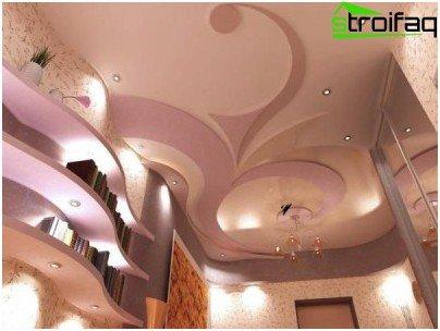 Фалшив таван (на базата на конструкция от гипсокартон)