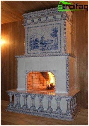 Types of ceramic tiles for stoves