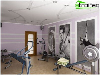 A selection of lighting for the gym