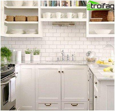 خيارات لوضع البلاط في المطبخ