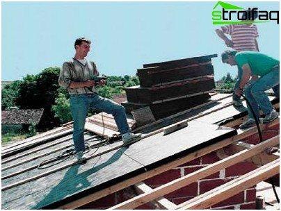 Isolierung eines Flachdachs außen