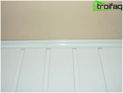 PVC ceiling plinth in the interior