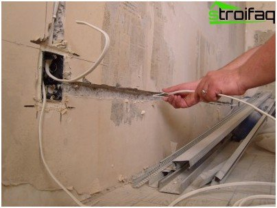 Replacing wiring in an apartment