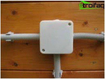 Как да положите кабела в гофрирането