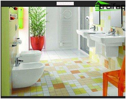 Cálculo de azulejos para el baño.