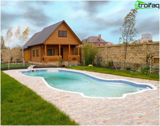 Pool for a summer residence