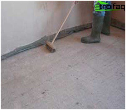 Concrete screed surface
