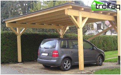 Дървен балдахин