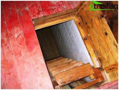 Brug af træ i konstruktionen af kælderen