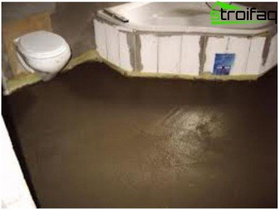 Bathroom floor screed