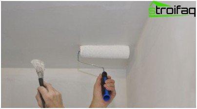 Kako bojiti strop vlastitim rukama