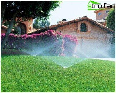 irrigation radius