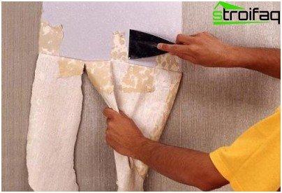 Eliminación de papel tapiz