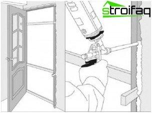 Монтаж на рамка на вратите