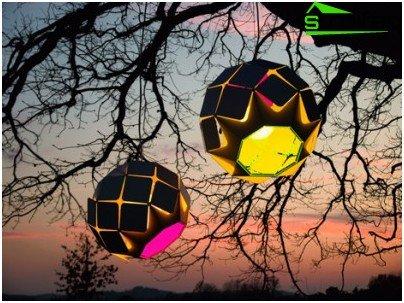 Colgante con energía solar Lampions