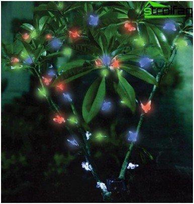 Lámpara decorativa de jardín