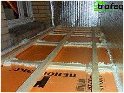 Floor insulation on the balcony