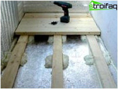 The device of the floor when warming the balcony