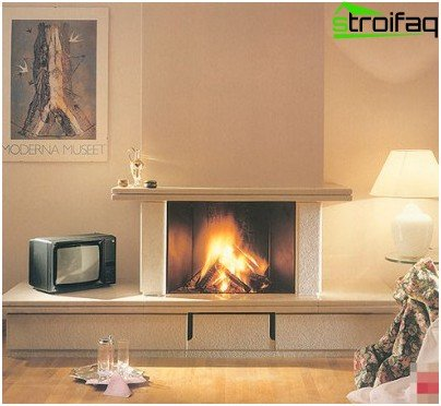 Architectural styles of fireplaces in the interior