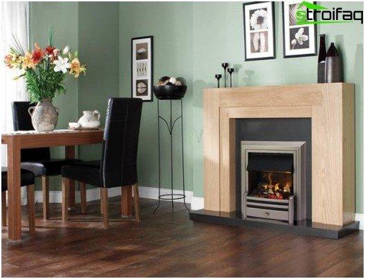 Fireplace in modern housing