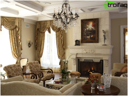 Fireplace in a classic style