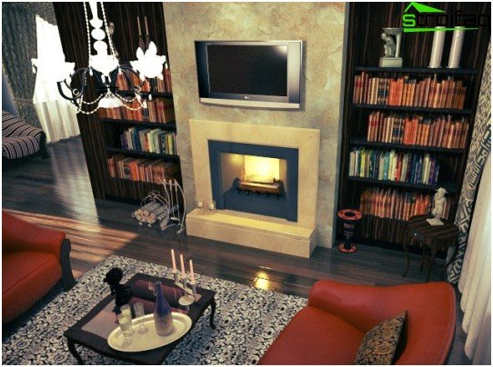 Victorian fireplace in the interior
