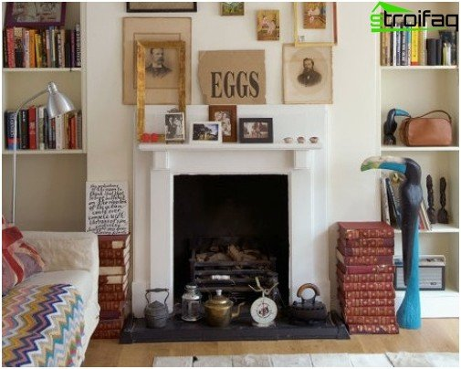 Fireplace in ethno interior