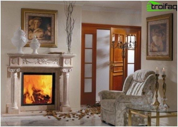 Biofireplace in the interior