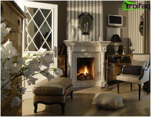 Empire style pompous fireplace