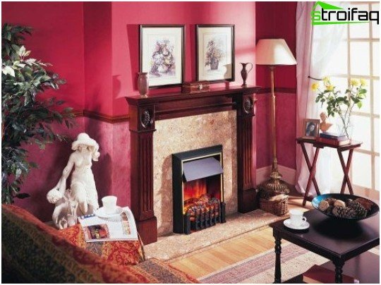 Classic fireplace in the interior