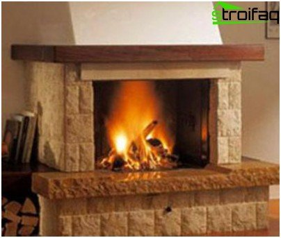 The fireplace will organically fit into any interior