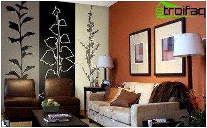 Vertical combination of wallpaper