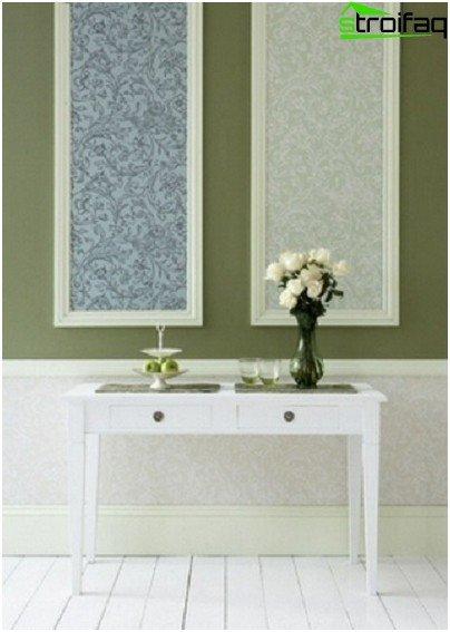Inserciones rectangulares de papel tapiz