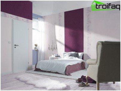 Combinando papel tapiz en el dormitorio