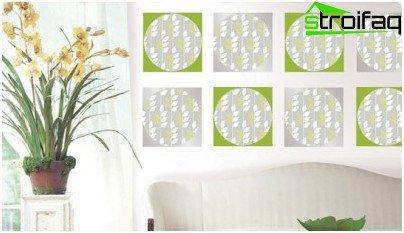 Inserciones de papel tapiz en el dormitorio