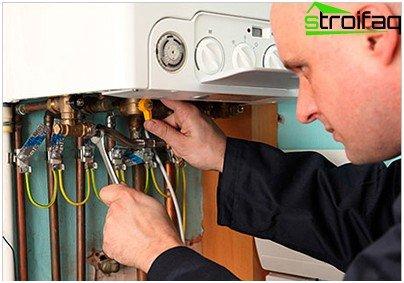 Installation of heating equipment