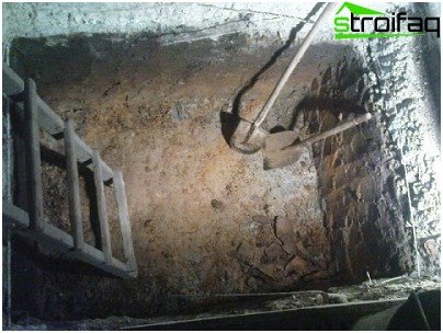 Изкопаване на дупка под шрифта