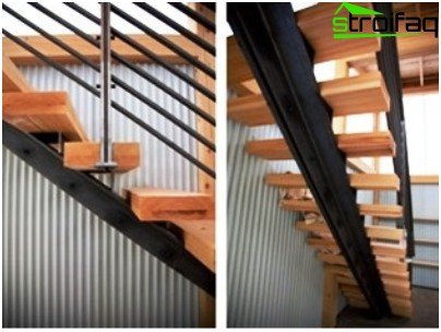 Metal stairs: photos of structures with cusors