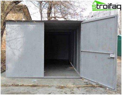 Garageport i metal