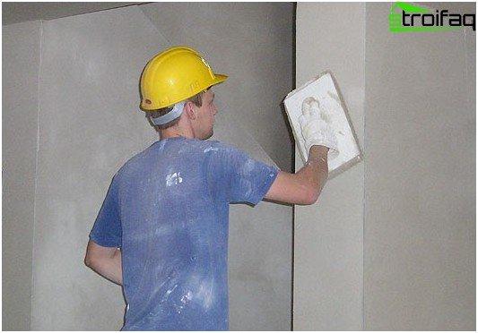 تجهيز الجدران لورق الحائط