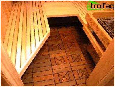 Обробка підлоги в парильні