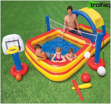 Inflatable game complex