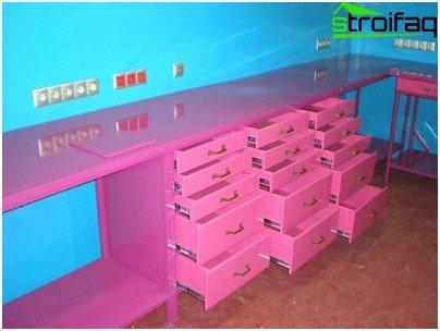 Modular finished garage furniture