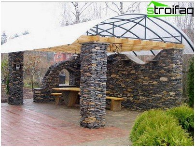 gazebo made of stone