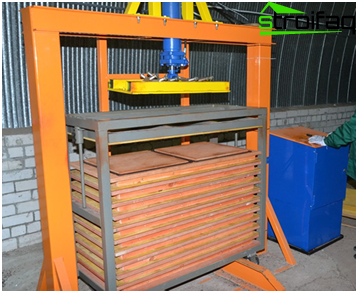 production of rubber crumb tiles