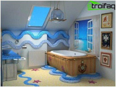 Geräumiges Badezimmerdesign