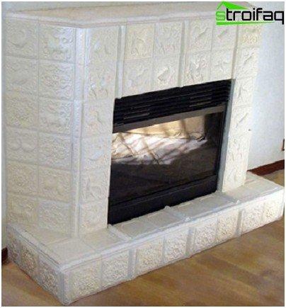 Ceramic fireplace lining option