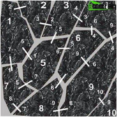 Matching stone tiles
