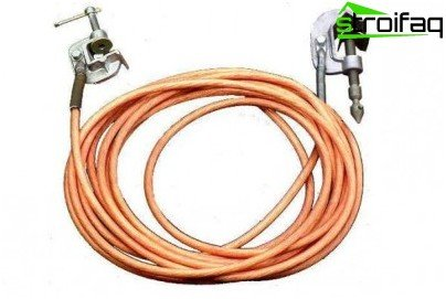 The copper wire of the grounding devices must not have insulation