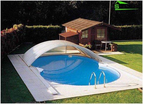 Plastic pool til en sommerresidens: resultatet af arbejdet
